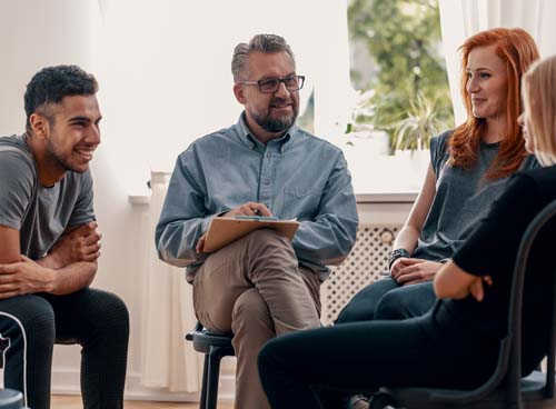 Image of a group discussion